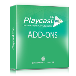 Playcast Pro with Add-ons