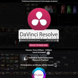 DAVINCI RESOLVE WEEKEND CLASS REGISTRATION
