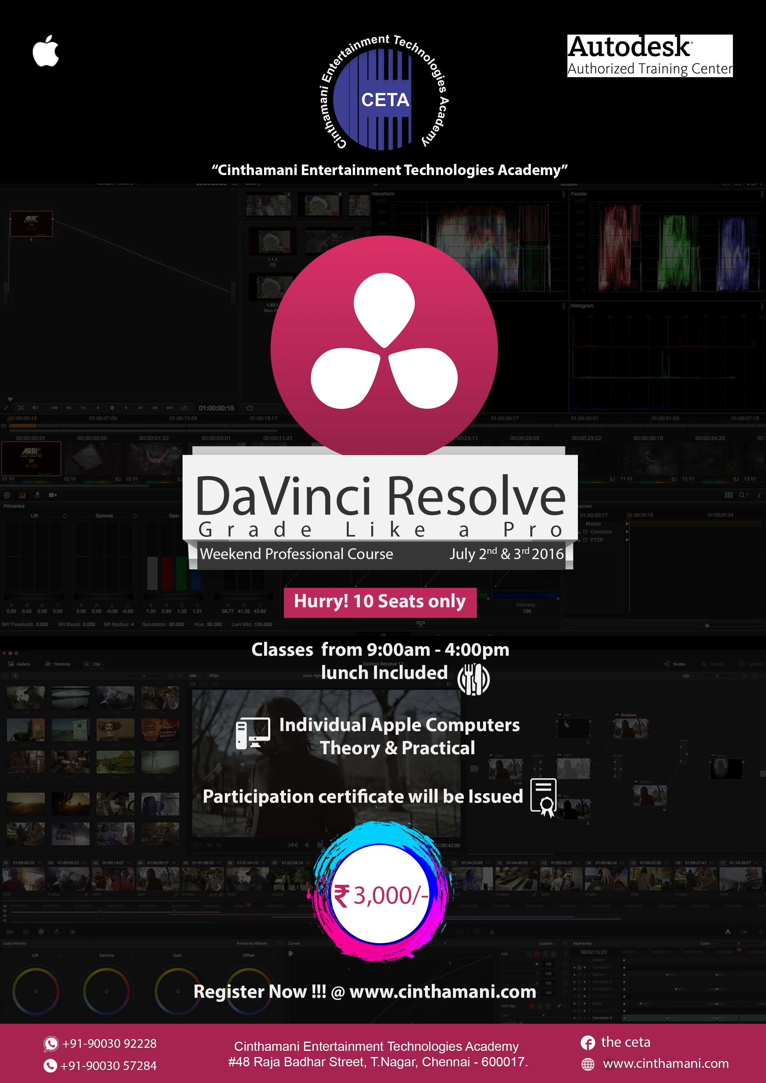 DAVINCI RESOLVE WEEKEND CLASS