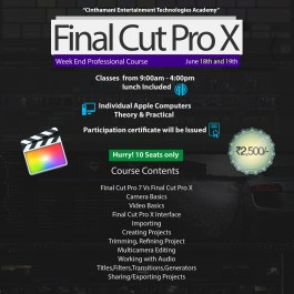 FINAL CUT PRO WEEKEND CLASS REGISTRATION